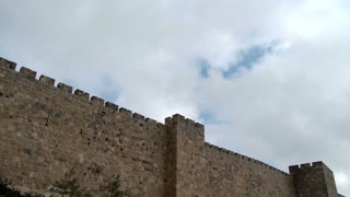The walls of old Jerusalem, time lapse