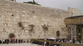 The western wall in old city Jerusalem