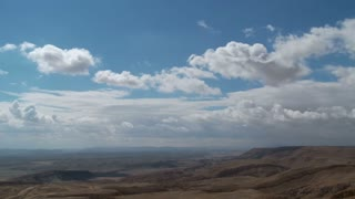 Time Lapse of clouds over the Negev desert in Israel