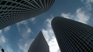 Time lapse of high rise buildings in Tel Aviv
