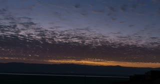 Time Lapse of sunrise over the Dead Sea