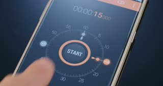 A digital timer on a smartphone screen