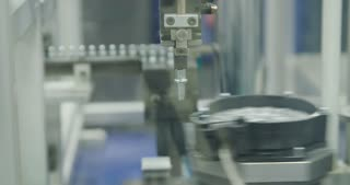 Assembly line of parts for the automotive industry