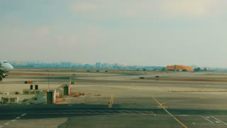 Cargo Airplane taxiing at the airport