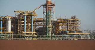 Dead Sea Works chemical factory for minerals and fertilizers, Dead Sea in Israel