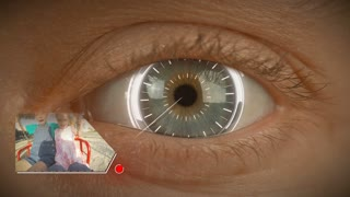 Digital memories - bionic eye with futuristic hud elements