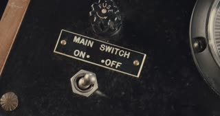 Hand switching old power switch