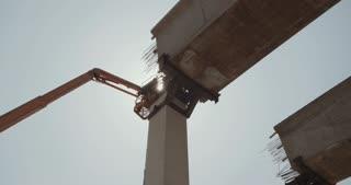 Highway bridge construction project