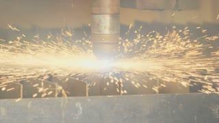Industrial Plasma laser cutting metal plate