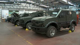 Israel, Circa 2011 - Armored vehicles manufacturing in a large factory