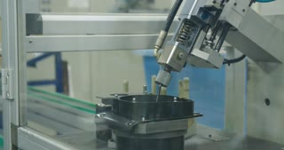Machine in a Production line of parts for the automotive industry