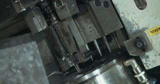 Machine processing metal parts