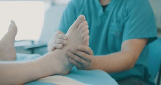 Medical reflexology treatment in a hospital