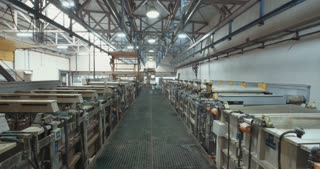 Metal coating process in a factory