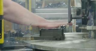 Production line for parts for the automotive industry