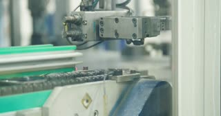 Robotic arm in a Production line of parts for the automotive industry