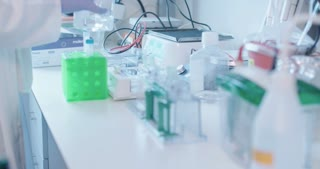 Scientist working in a medical laboratory conducting experiments
