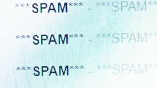 Scrolling in an email inbox full of spam messeges