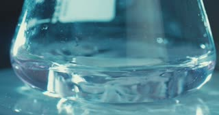 Slow motion of mixing chemicals inside a test tube
