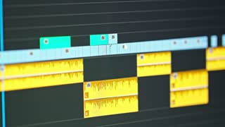 Video editing timeline - editor going through clips and frames