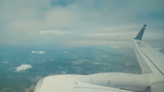 view from inside an airline jet during flight