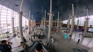 Airport and escalator