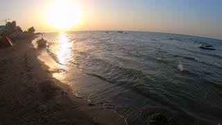 Beautiful Sunset Near Sea