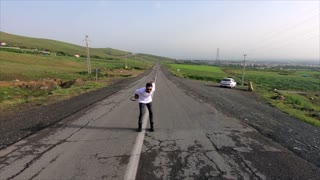 Funny Man On The Road
