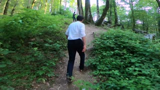 Man Walking in the Woods