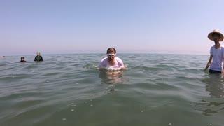 Swimming Man Under the Sea