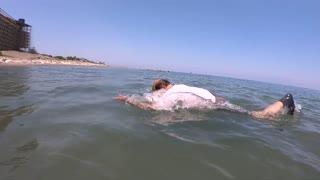 Underwater old man