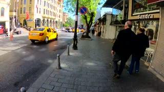 Walking through street istanbul TimeLaps
