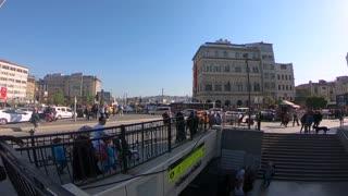 Walking through street istanbul