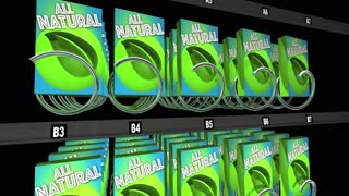 All Natural Products Ingredients Snack Vending Machine 3 D Animation