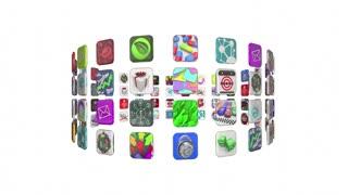App Market Software Download Store Animation 4K