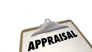 Appraisal Checklist Clipboard Assessment Review Animation 4K