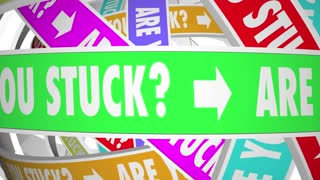 Are You Stuck Rut Going Circles Words 3d Animation