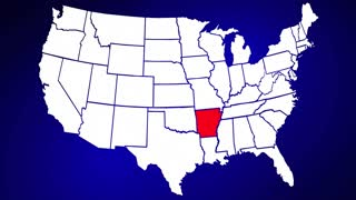 Arkansas AR United States of America 3d Animated State Map