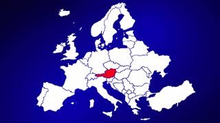 Austria Europe Country Nation Map Zoom In Close Up Geography