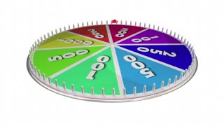 Big Decision Game Spinning Wheel Choose Choice 3 D Animation