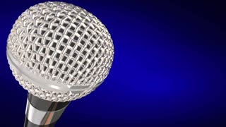 Breaking News Microphone Important Urgent Report