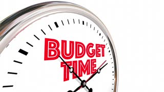 Budget Time Save Spend Money Plan Clock 3 D Animation