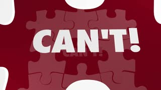 Can Vs Cant Puzzle Pieces Positive Attitude Determination