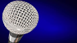 Caught On Microphone Interview Talk Words 3 D Animation