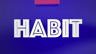 Change Old Bad Habit Improve New Lifestyle Arrow Over Word 3 D Animation