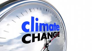 Climate Change Global Warming Clock Time 3d Animation