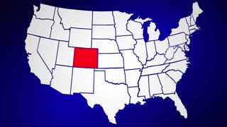 Colorado CO United States of America 3d Animated State Map