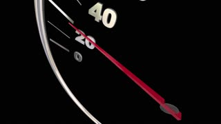 Competitive Edge Advantage Speedometer Words 3d Animation