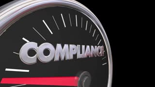 Compliance Speedometer Fast Action Follow Laws Rules 3d Animation