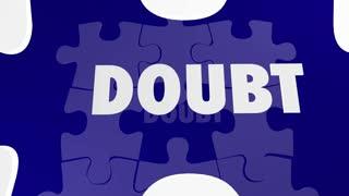 Confidence Vs Doubt Good Positive Attitude Wins Puzzle Solution